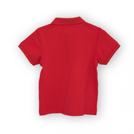 Tricou polo culoare rosu1