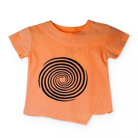 Tricou portocaliu cu cercuri negre [0]