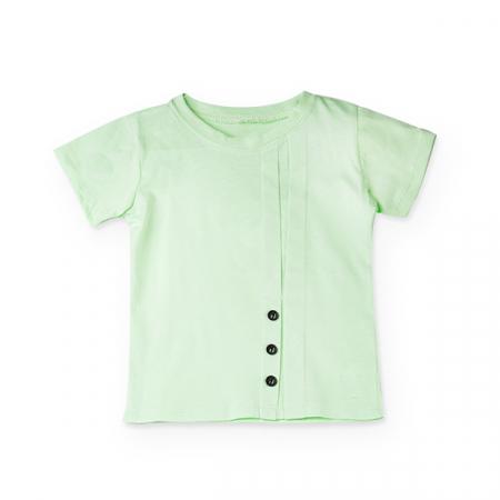 Tricou verde cu nasturi si cute4