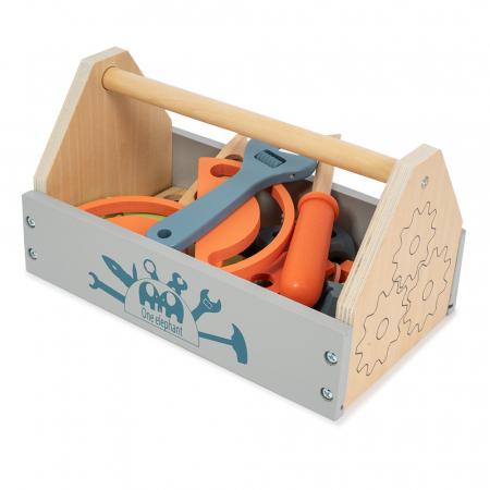 Trusa de scule cu maner din lemn - 32 piese1