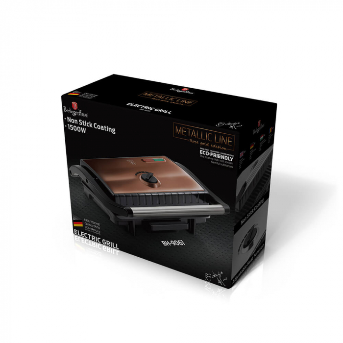 Grill electric Rose Gold Metallic Collection Berlinger Haus BH 9061 [3]