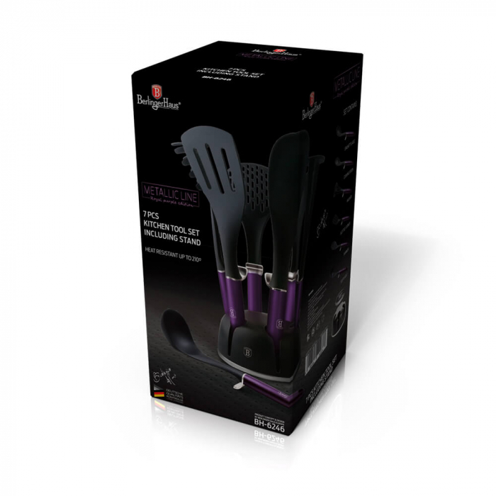 Set ustensile de bucatarie (7 piese) Metallic Line Royal Purple Edition Berlinger Haus BH 6246 1