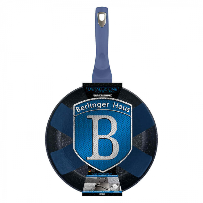 Tigaie 24 cm Metallic Line Royal Blue Edition Berlinger Haus BH 1647N 2