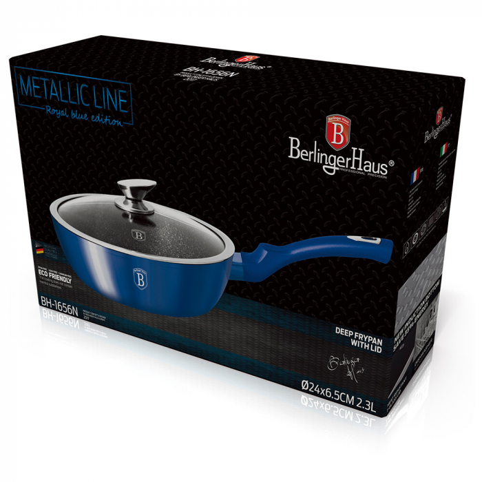 Tigaie cu capac adanca 24 cm Metallic Line Royal Blue Edition Berlinger Haus BH 1656N 2