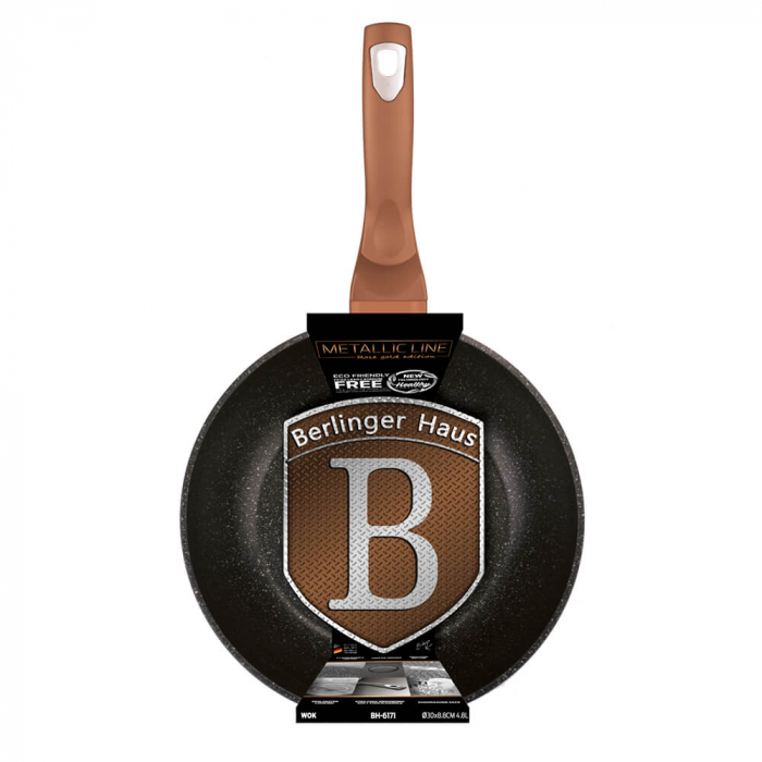Wok 30 cm Rose Gold Metallic Collection Berlinger Haus BH 6171 1