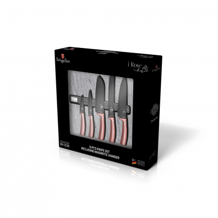 Set cutite otel inoxidabil cu suport magnetic (6 piese) I-Rose Collection Berlinger Haus BH 2538A [2]