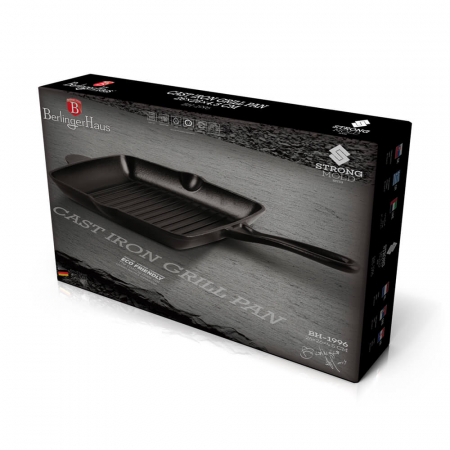 Tigaie Grill 26 cm din fonta Strong Mold Seria Berlinger Haus BH 19961