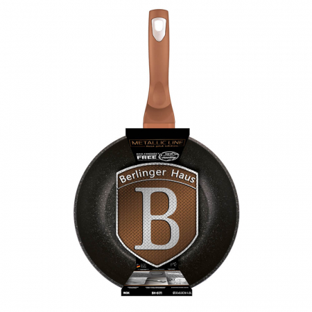 Wok 30 cm Rose Gold Metallic Collection Berlinger Haus BH 61711