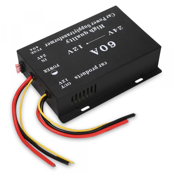 Convertor auto tensiune 24V~12V, cu putere 60A 2
