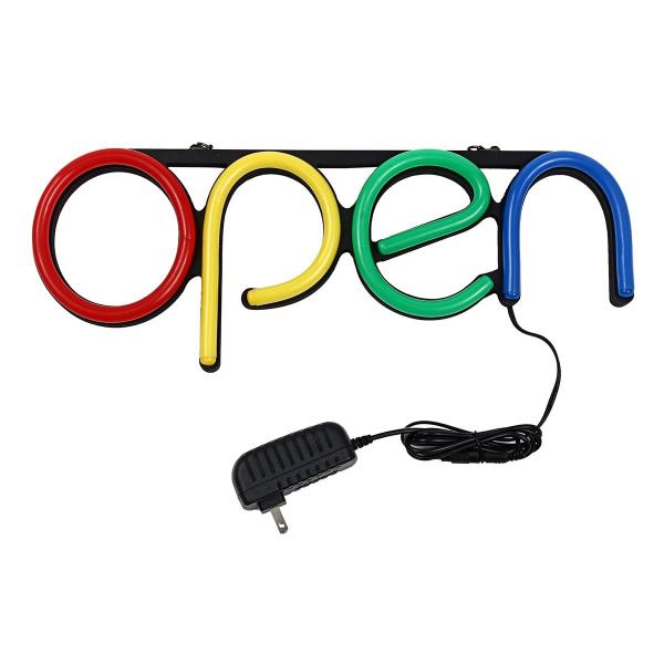 Reclama luminoasa Led interior mesaj Open 4