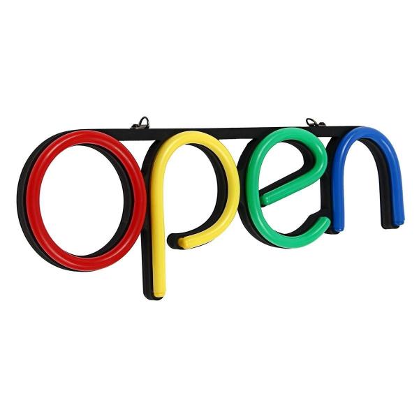Reclama luminoasa Led interior mesaj Open 2