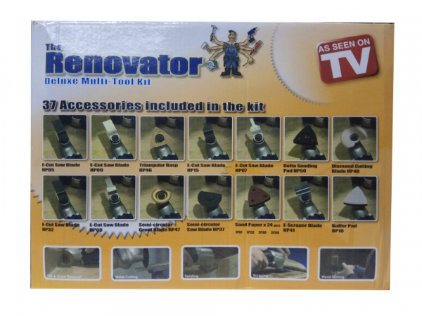 Aparat de slefuit si set accesorii pentru renovare cu 37 piese Renovator 8