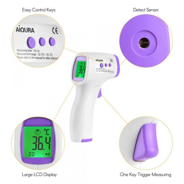 Termometru digital non contact cu infrarosu AD801 3