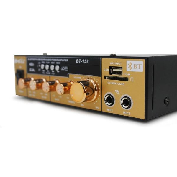 Amplificator Audio cu Bluetooth, USB, Radio si Telecomanda BT-158 2