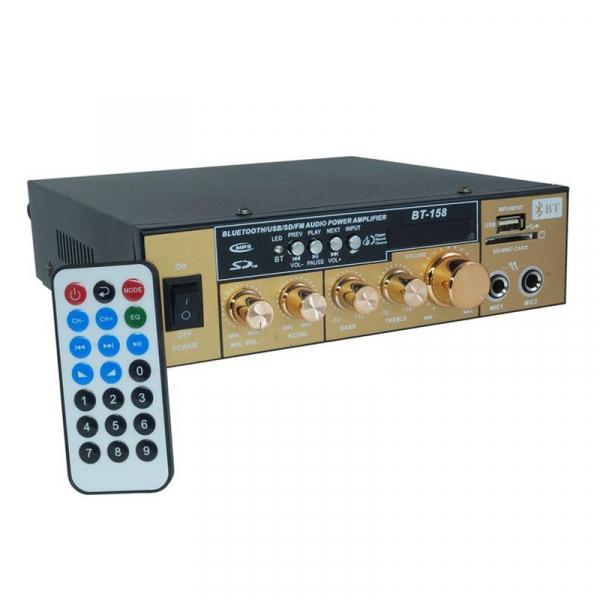 Amplificator Audio cu Bluetooth, USB, Radio si Telecomanda BT-158 0