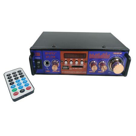 Amplificator audio tip statie BT-798 cu Bluetooth, USB si suport SD 0