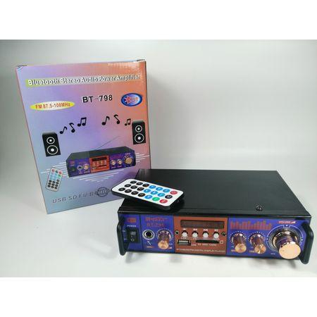 Amplificator audio tip statie BT-798 cu Bluetooth, USB si suport SD 3