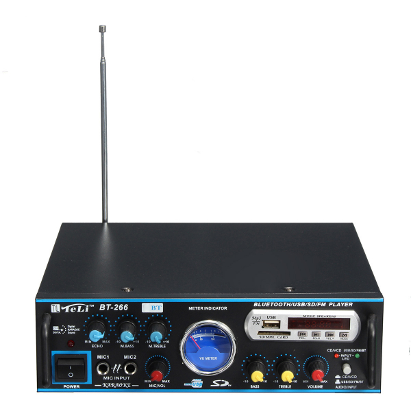 Amplificator profesional tip statie TeLi BT-266,cu Bluetooth MP3 Player si Radio FM 3