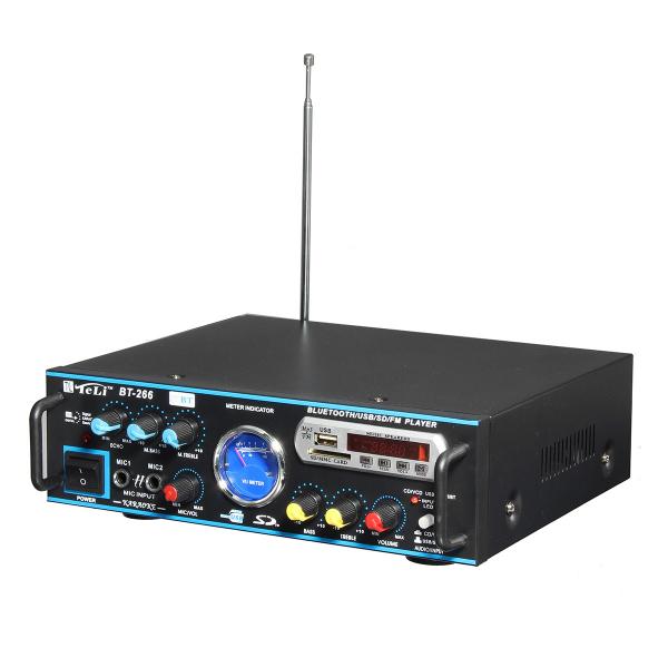 Amplificator profesional tip statie TeLi BT-266,cu Bluetooth MP3 Player si Radio FM 0