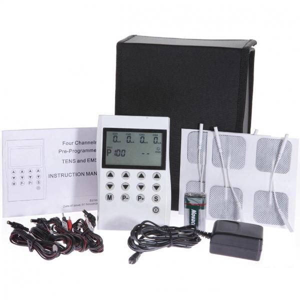 Aparat de electrostimulare profesional TENS si EMS de 4 canale si 50 programe 0