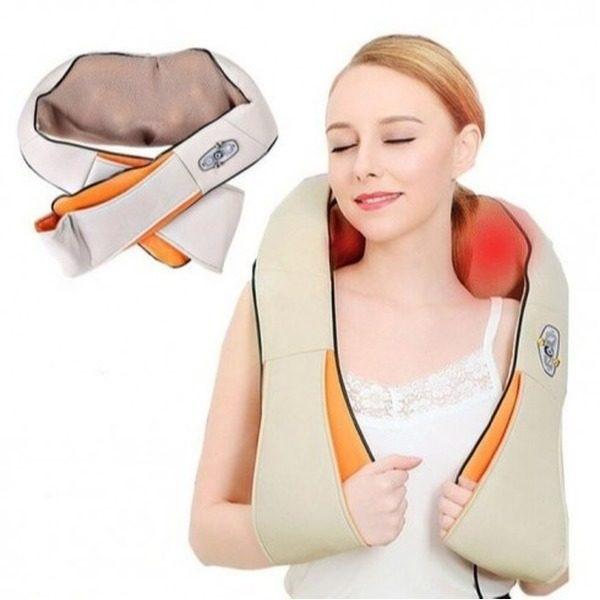 Aparat pentru masaj umeri si gat Shiatsu Massager of Neck Kneading cu infrarosu 1