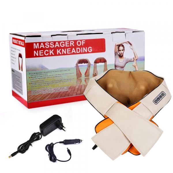 Aparat pentru masaj umeri si gat Shiatsu Massager of Neck Kneading cu infrarosu 0