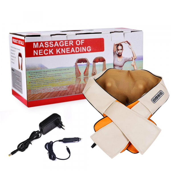 Aparat pentru masaj umeri si gat Shiatsu Massager of Neck Kneading cu infrarosu [2]