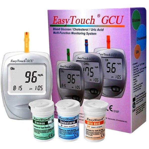 Aparat pentru masurat glicemie colesterol acid uric EasyTouch GCU 0