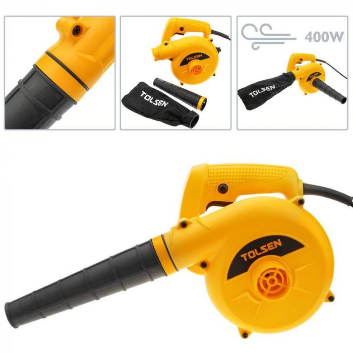 Suflanta si aspirator electric de frunze cu putere 400 Watts, Tolsen 79604 [1]