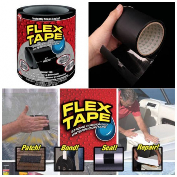 Banda adeziva cauciucata reparatoare Flex Tape [2]