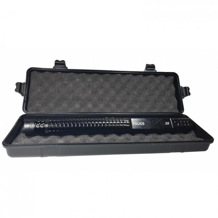 Baston electroșoc pentru autoaparare metalic,Police HY-X8 [1]