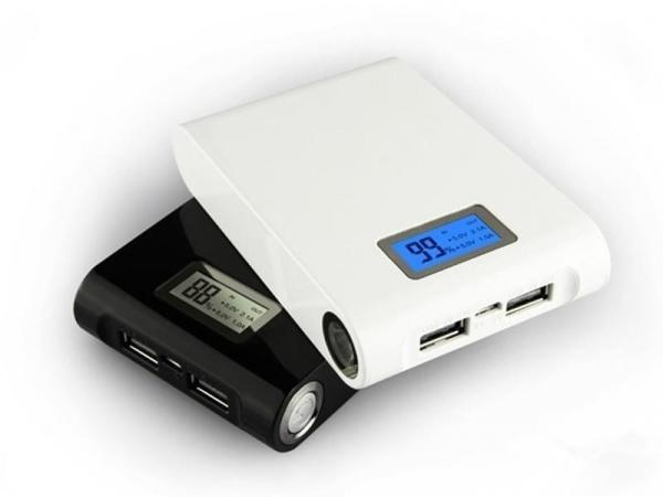 Baterie externa Power Bank cu display 12000 mAh cu dubla iesire USB 1