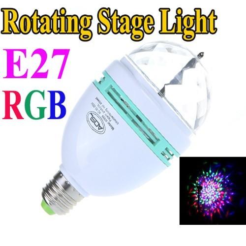 Bec colorat rotativ LED RGB 0