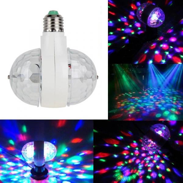 Bec rotativ dublu cu proiectie de lumini multicolore 6 Watt [3]
