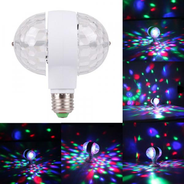 Bec rotativ dublu cu proiectie de lumini multicolore 6 Watt [1]