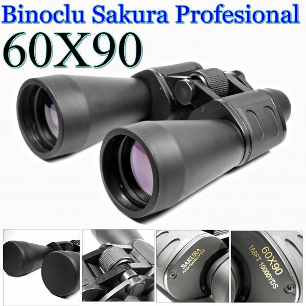 Binoclu Sakura cu lentile tratate antireflexie 60x90 0