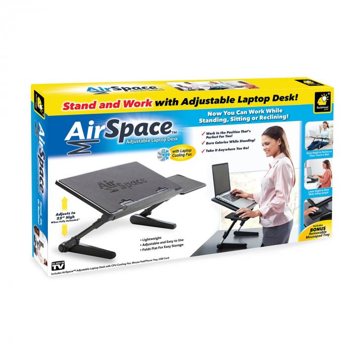 Birou portabil pentru laptop Air Space cu suport mouse si cooler [4]