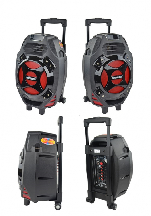 Boxa tip troler Temeisheng Q7S-16, cu microfon wireless si telecomanda [2]