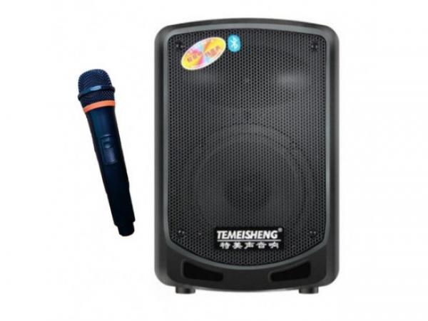 Boxa bluetooth tip troler Temeisheng A6-10, microfon WI-FI, cititor stick, card SD, radio FM 0