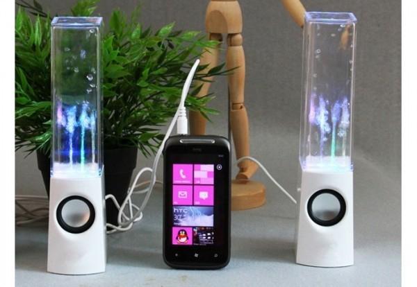 Boxe audio equalizer cu apa dansatoare si multicolore 0