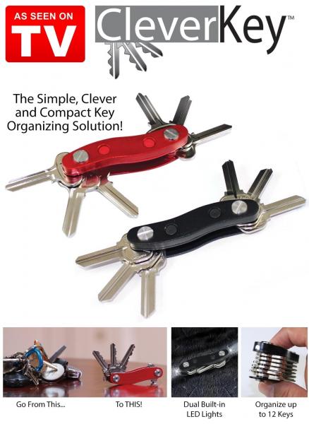 Breloc organizator pentru 12 chei Clever Key 0