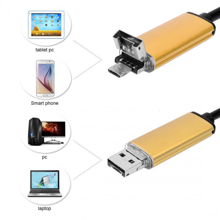 Camera endoscopica de inspectie 2 in 1 Android / PC Micro USB Wire Camera HD [3]