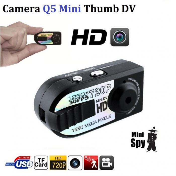 Camera video mini spion Q5 cu inregistrare HD si detectie de miscare Night Vision [1]