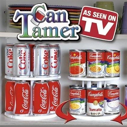 Can-Tamer Organizator rotativ pentru cutii tip conserve  0