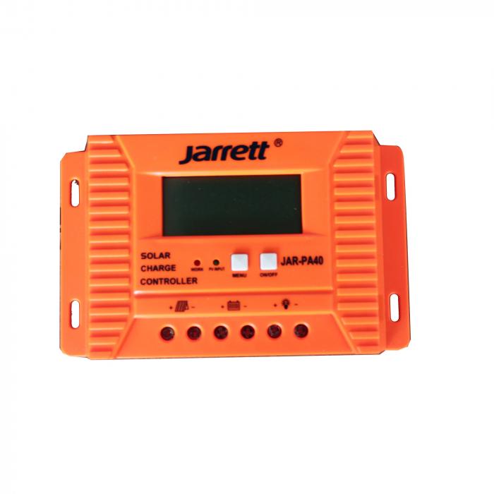 Controller 40 A Jarrett,pentru panou solar cu afisare LCD si iesire USB 5V-2A 0