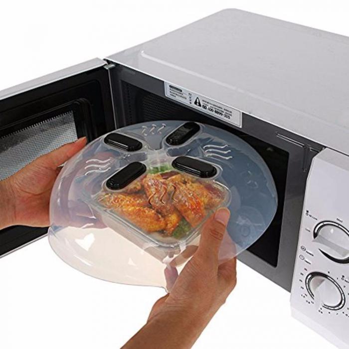 Capac magnetic pentru cuptorul cu microunde, Hover Cover Microwave Splatter Guard [1]
