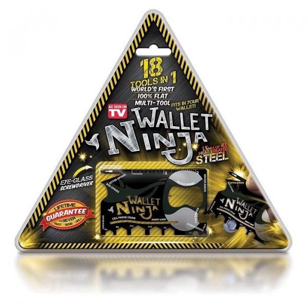 Card cu functii multiple 18 in 1 Ninja Wallet 0