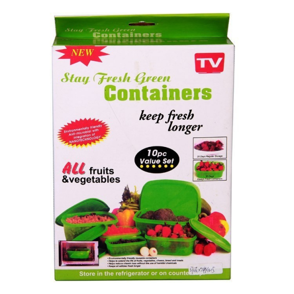 Caserole Stay Fresh Green Containers 0