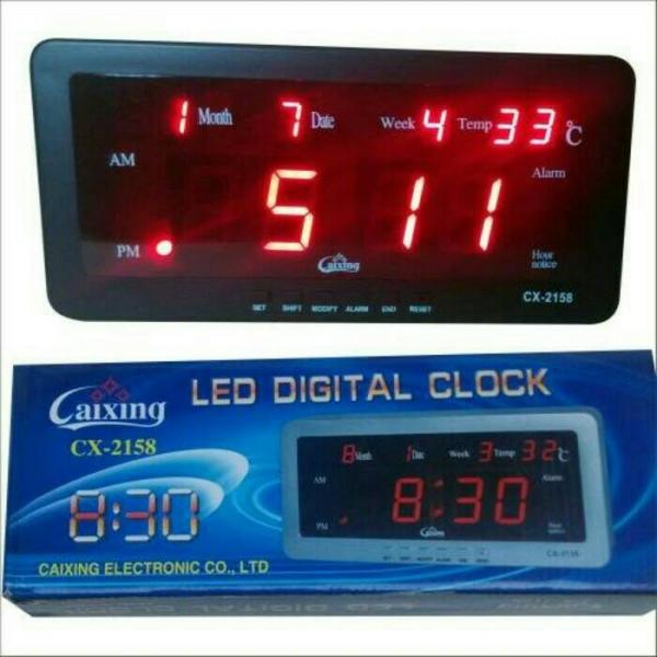 Ceas cu termometru digital si LED-uri CX-2158 [1]