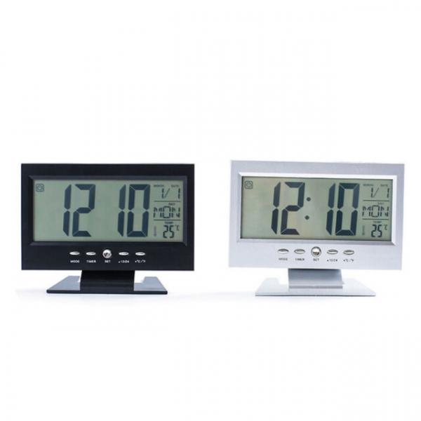 Ceas electronic digital cu ecran LCD si control vocal senzor acustic DS-8082 [2]